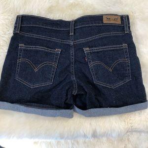 Levi's dark rinse shorts